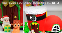 santa cake, christmas cake, house cake, boot cake, winter cake, cake kids, kids cake, cakes step by step,