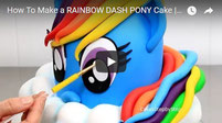 my little pony cake, rainbow dash cake, rainbow pony cake, cake kids, cakes step by step,