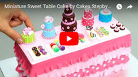 ミニチュアケーキ, miniatures, miniature food, miniature cakes, sweet table cake,