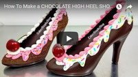 chocolate shoe, tempered chocolate, shoe bakery chocolate, chocolate shoe mold,