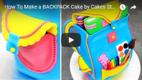 cake kids, kids birthday cakes, backpack cake, cakes kids, cake decorating, bolos, tortas, tartas, pasteles,
