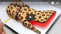 animal print cake, high heel cake, fashion cake, boot cake,