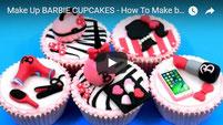 barbie cupcakes, cupcakes, makeup cupcakes, makeup barbie, cupcake, cake toppers,