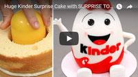 kinder cake, kinder surprise cake, surprise cake, kids cakes,