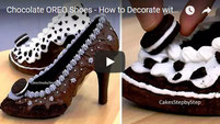chocolate shoes, chocolate oreo dessert, chocolate,