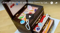birthday cake, jewelry cake, jewelry box cake,