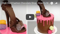stiletto chocolate shoe