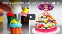 princess cake,disney cake,malucia,malucia cake,kids cake,cake video,cake tutorial,cupcakes,chocolate,