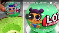 lol cake, surprise cake, lol surprise, lol surprise cake, cake kids, cakes step by step,