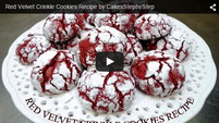 Red Velvet Crinkle Cookies Recipe.cookies recipe,cookies how to,red velvet,red velvet cookies,