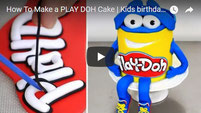 playdoh cake, play-doh cake, kids cakes ideas, kids birthday cakes, cakes step by step,