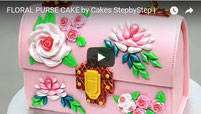 purse cake, floral cake, fondant, cake decoration, fondant molds,
