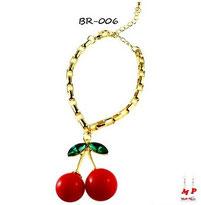 Bracelet doré cerise