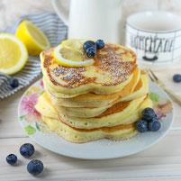 Zitronen Ricotta Pancakes