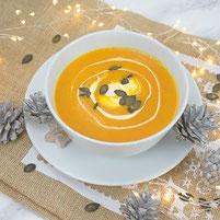 Kürbis Suppe mit Ingwercreme