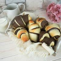 Black & White Brioche Croissants