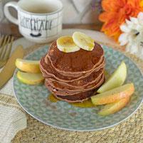 Zuckerfreie Schoko Pancakes