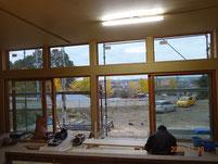 町並を見るための大開口木窓