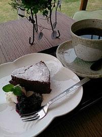 ガトーショコラと蘭's Gardenオリジナルブレンドのセット