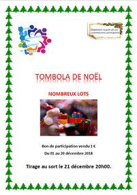 affiche tombola noel 2018 par UCAL Lezay 79120