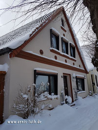 Ferienhaus Arnis Luth im Schnee, 03.03.2018