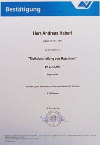 Risikobeurteilung von Maschinen