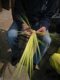 SAN-MARTINU-DI-LOTA  Confection des palmes