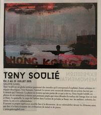 Exposition Tony Soulié- Galerie Gabel-Biot french riviera art gallery