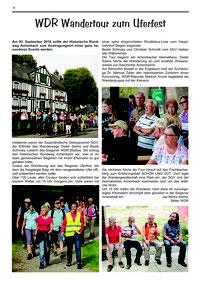 Artikel WDR Wandertour zum Uferfest