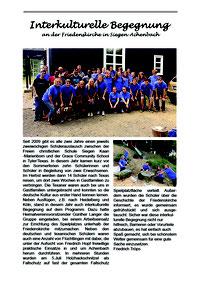Heimatverein Achenbach Interkulturell Spielplatz mit Hilfe amerikanischer Schüler gebaut