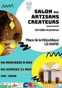 Exposition au Salon des artisans créateurs du Mans en mai 2019