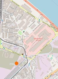 Plan de situation du projet d'habitat participatif de Bordeaux Belcier avec Le COL