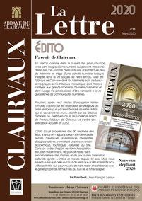 Abbaye de Clairvaux, La Lettre 2020, page 01