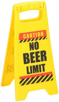 Waarschuwingsbord No Beer Limit €1,95 ca. 12x25cm