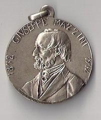 Medaglia dedicata a Giuseppe Mazzini.