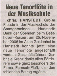 Nordheide Wochenblatt 16.01.2007