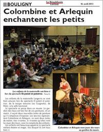 """Les GuiGnOlOs en spectacle à BOULIGNY avec la pièce de magie théâtralisée """"Et patati, et patatrac..."""""""