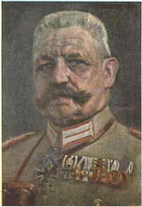 Postkarte Generalfeldmarschall Paul von Hindenburg (1847-1934), 1918. Städtisches Museum Göttingen