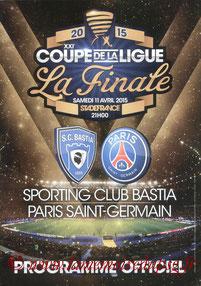 Programme  Bastia-PSG  2014-15