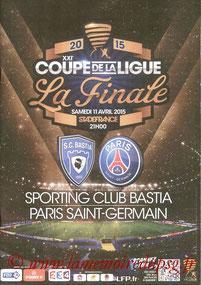 Dossier de presse  Bastia-PSG  2014-15