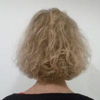 nach einem normalen Haarschnitt