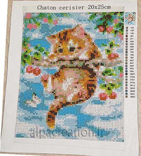 Broderie diamant chat animaux