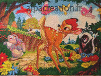broderie diamant bambi