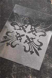 Pochoir Carreau de ciment N°2  de la collection Jeanne d'Arc Living