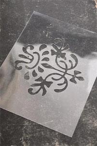 Pochoir Carreau de ciment N°3  de la collection Jeanne d'Arc Living