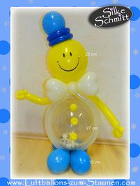 Luftballon Geschenk Ballon Männchen Gutschein Smiley Kopf Geburtstag Party Kindergeburtstag Deko Dekoration witzig verschicken Gentleman Puzzle Geldgeschenk Geld Kommunion Firmung Jugendweihe Konfirmation
