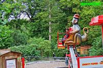 Affen und Vogelpark Eckenhagen Jimmys Super Sause Drifter Tierpark Wildpark Zoo Nordrhein Westfalen Mini Starflyer Karussell Heinz