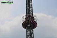 Graviator Funtime Fun Time Freefall Tower Free Fall Eifelpark Gondorf Freizeitpark Familie