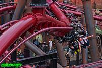 FLY F.L.Y. Phantasialand Rookburgh Vekoma Flying Launch Coaster Rollercoaster Achterbahn Freizeitpark