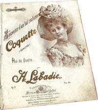 Кокетка, воспоминание о бале, па-де-катр, Лабади, ноты для фортепиано